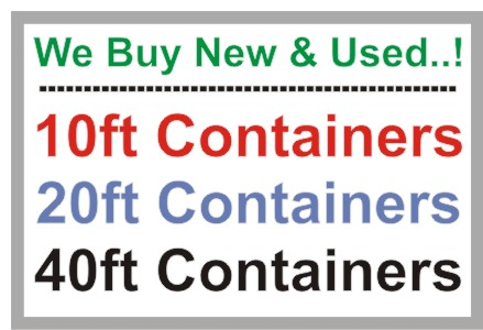 containers wanted, we buy used and new shipping contianers