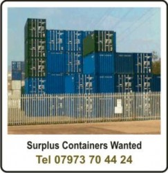 containers wanted cash paid