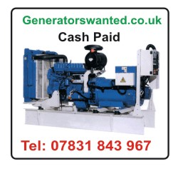Generators Wanted, Cash paid for all types of used diesel generators